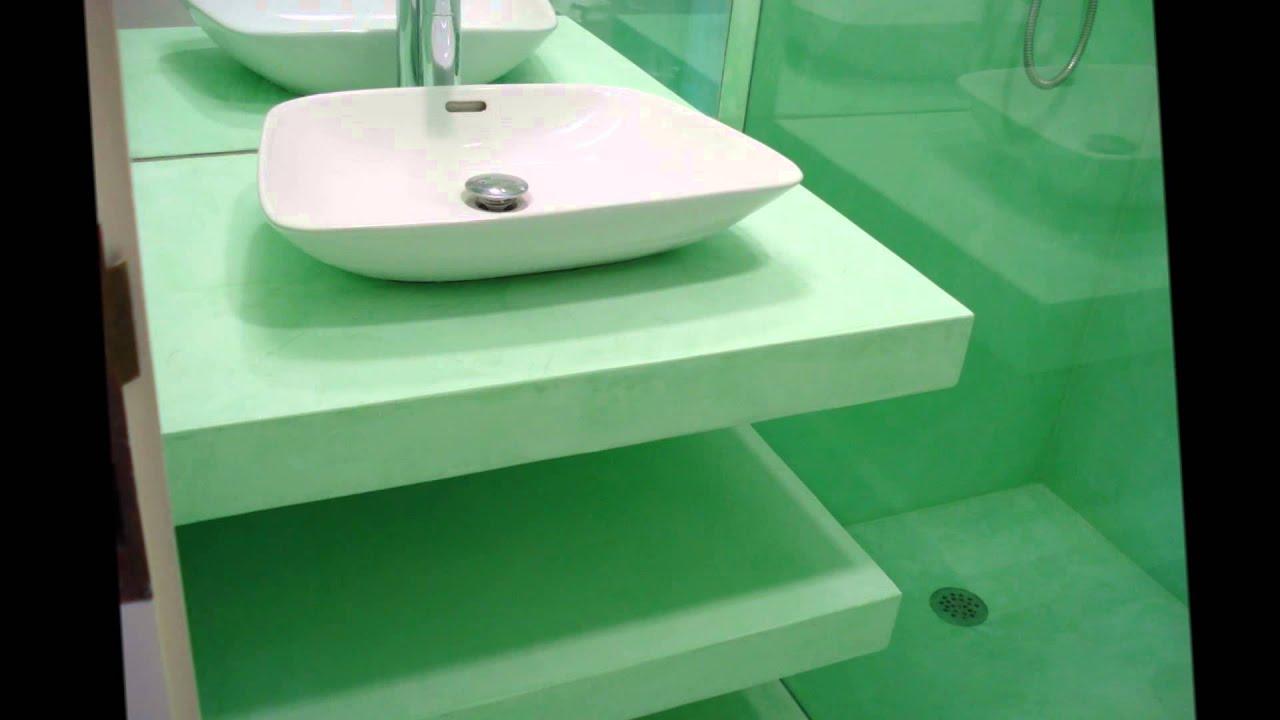 Baños Con Microcemento Fotos:Baños microcemento cimentart – YouTube