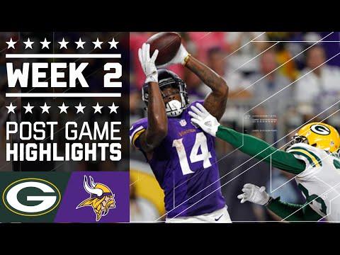 Packers Vs Vikings Nfl Week 2 Game Highlights