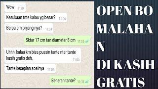 OPEN BO MALAHAN DI KASIH GRATIS SAMA TANTE #PRANK TAKS LEWAT WA