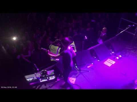 Pete Doherty hugs fan on stage in Newcastle