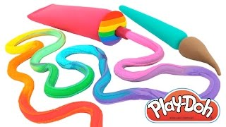 Learn Colors with Play-Doh Painting * Creative Fun for Kids * RainbowLearning