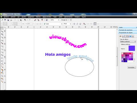 Adaptar texto a trayecto - Corel draw
