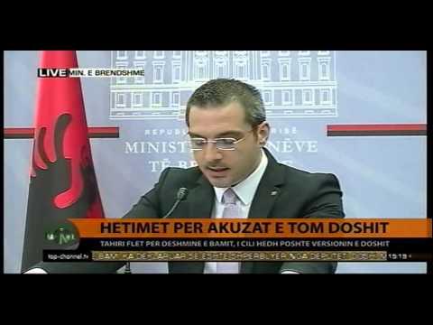 Akuzat e Doshit, deklarata e Ministrit Tahiri - Top Channel Albania - News - Lajme