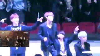 BTS & TTS Ft Exo Reaction To Bigbang [MAMA] 2015 Fancams Part 1