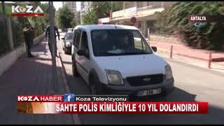 SAHTE POLİS KİMLİĞİ İLE 10 YIL DOLANDIRDI