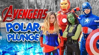 2019 POLAR PLUNGE Superhero Avengers Endgame | Brooklyn & Bailey