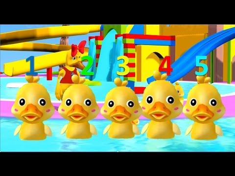 เพลง Five Little Ducks - เพลงเป็ด 5 ตัว เพลงเด็ก   ภาษาอังกฤษสำหรับเด็ก