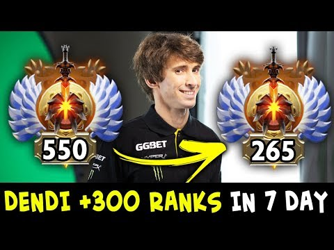 Dendi got +300 Ranks in 7 days — back to practice