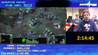 Starcraft 2 played live (Brutal Difficulty) at Awesome Games Done Quick 2013 (3:25:54) [PC]