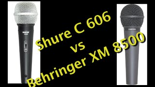 Cheap Shure Handheld vs Cheap Behringer Handheld