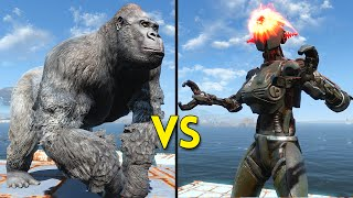 Fallout 4 - 50 Gorillas VS 25 Assaultrons - Battles #8