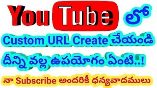 How to create Custom URL youtube channel Thanq for all my subscribes