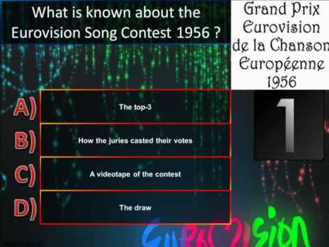 Eurovision Trivia Quiz *Question 1: 1956* (START HERE!)