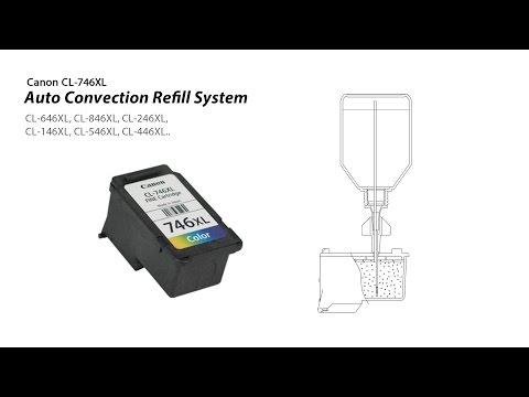 How to refill Canon CL-746XL. CL-646XL. CL-846XL. CL-246XL. CL-146XL. CL-546XL. CL-446XL