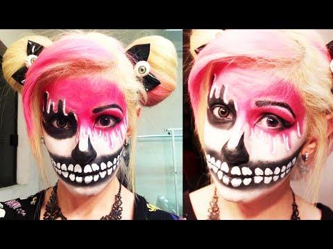 Maquillaje para halloween cara derretida miranda - Pintura cara halloween ...