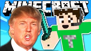 DONALD TRUMP WALL - Minecraft
