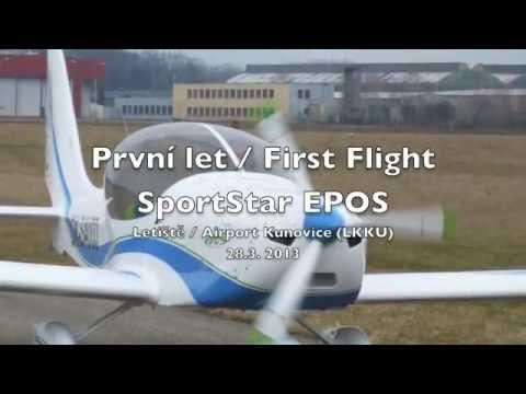 SportStar EPOS - první let / first flight