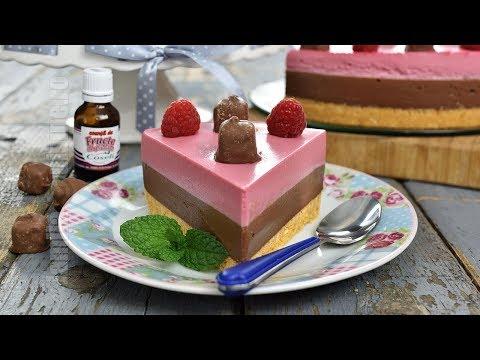Cheesecake cu ciocolata si zmeura fara coacere   JamilaCuisine