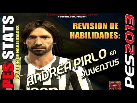 Stats Andrea Pirlo en Juventus / Revision habilidades PES 2013 + PESEDIT 4.1