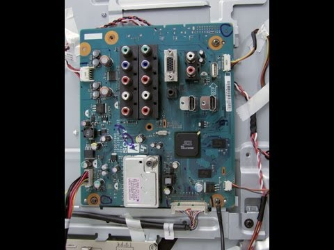 LCD TV Repair Review Main Board Overview-TV Has Audio but No Video-Common Issues Problems