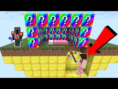 Minecraft: EXTREME RAINBOW LUCKY BLOCK BEDWARS! - Modded Mini-Game