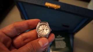 Ladies Rolex Silver Jubilee with Diamonds & White Gold Datejust Style 179159