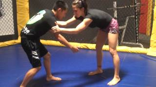 Cat Zingano demonstrates a few takedowns with Sai Michael Xiong