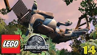 "LEGO JURASSIC WORLD Gameplay Walkthrough Part 14 - ""SHHH Sleeping Dinosaur!!!"" (1080p HD PC)"