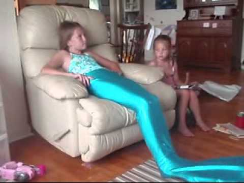 Me opening my mermaid tail