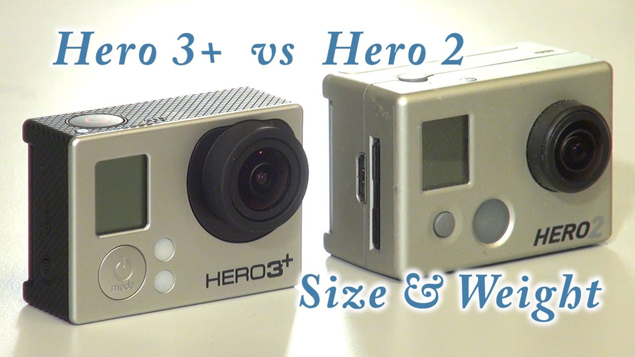 gopro hero 3 black vs hero 2 size and weight youtube. Black Bedroom Furniture Sets. Home Design Ideas