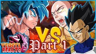 Vegeta Reacts To Saitama VS Goku : Crossover (Part 1)