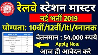Railway Recruitment 2019//Railway New Vacancy 2019//Railways TC Bharti2019//station master // Modi