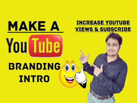 How to Make 2D. 3D Branding Intro Video for Youtube CHANNEL - Increase Views & Subscribers