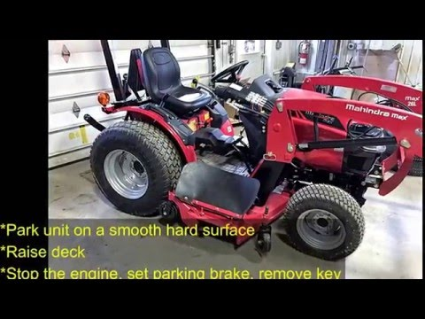 How to Remove Mowing Deck, Mahindra Max 26XL
