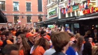 Amsterdam, victory against Mexico ! Hup Holland Hup.