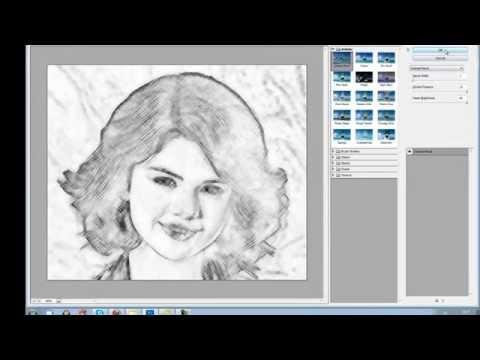 сделать рисунок карандашом в фотошопе: