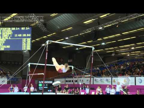 European Championships Brussels 2012, Youna DUFOURNET (FRA) Uneven Bars