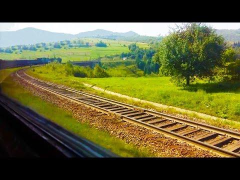 Слушать #колеса поезда онлайн. Успокаивающий #стук колес.Виды Карпат.