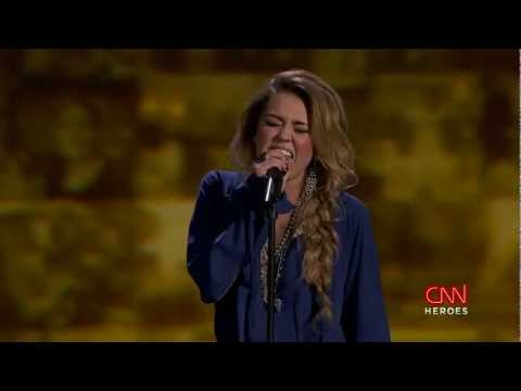 Miley Cyrus - The Climb. CNN Heroes An All-Star Tribute (11,Dec.2011) Music Videos