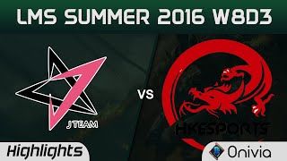 JT vs HKE Highlights Game 2 LMS Summer 2016 W8D3 J Team vs HongKong Esports