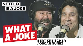 Bert Kreischer Almost Drowned & Oscar Nunez's Office Experience | What A Joke | Netflix Is A Joke