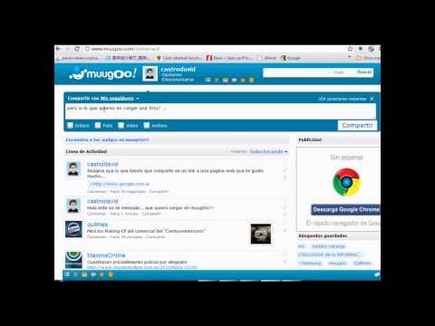 muugOo!!! como cargar contenido en la red social