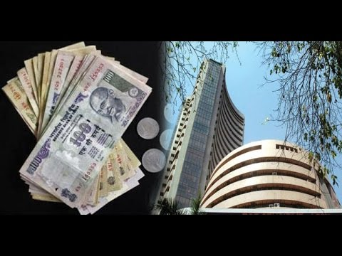 Sensex down 100 points, Rupee depreciates by 17 paise