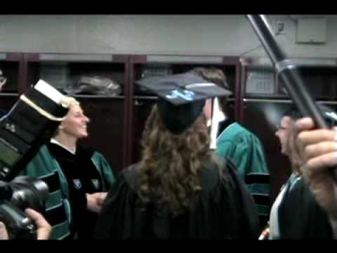 Backstage at Tulane University s 2009 Commencement