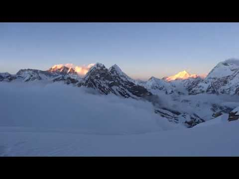 The Everest Academy: sunset over Everest, Lhotse and Makalu - 11/08/2013