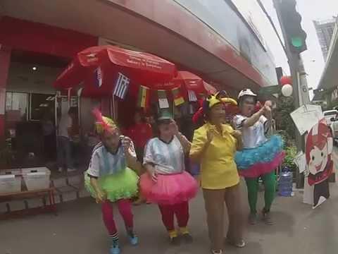 FIFA World cup 2014 Dancing – Post Office – Prakanong Bangkok Thailand