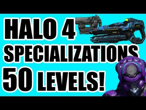 Halo 4 - 50 Level Ranking, Boltshot, Suppressor, & MORE Specialization Details!