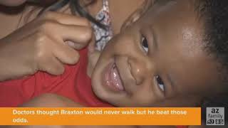 VIDEO: Video of boy with disorder walking goes viral