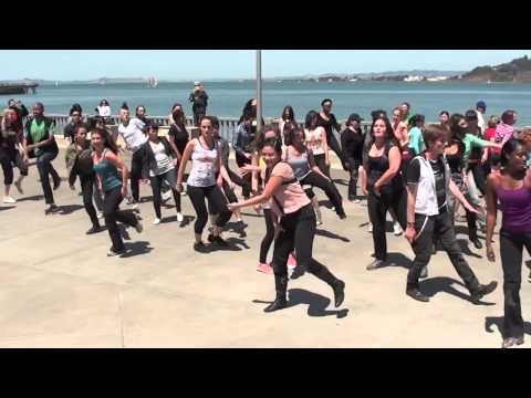 Janet Jackson Bday Flashmob at Cupid Arrow, SF May 18 2013 (Together Again and a Medley)