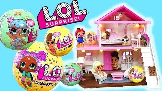 LOL Surprise Confetti Pop Series 3, Lil Sisters, Series 2 L.O.L Muñecas Bebes LOL SURPRESA BONECA